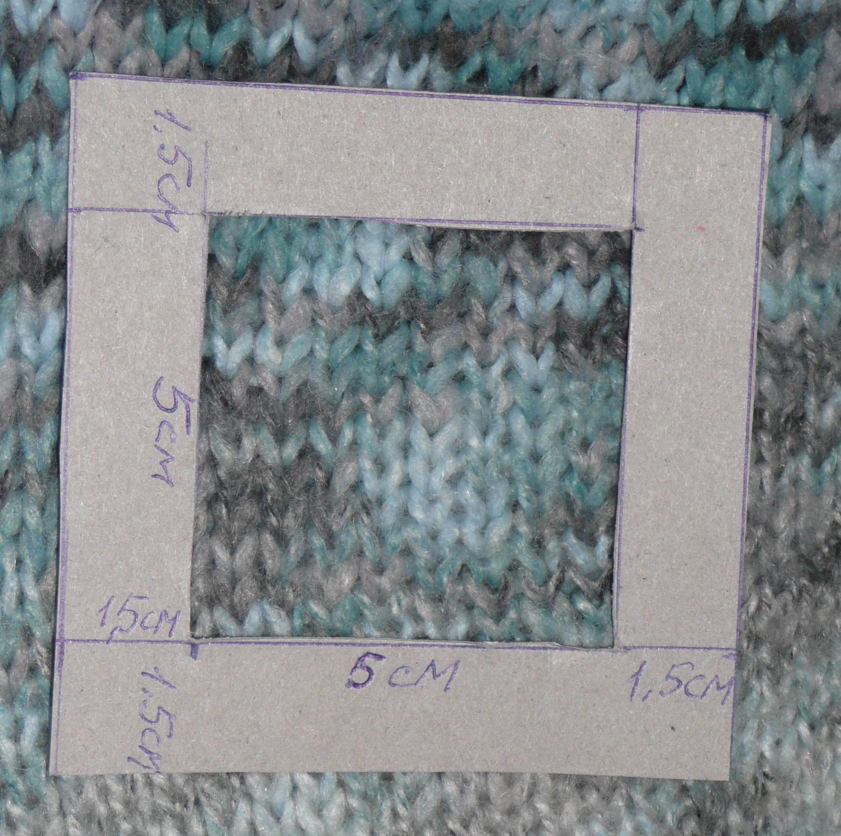 Линейка для измерения плотности вязания
