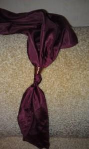 как завязать платок этап 1