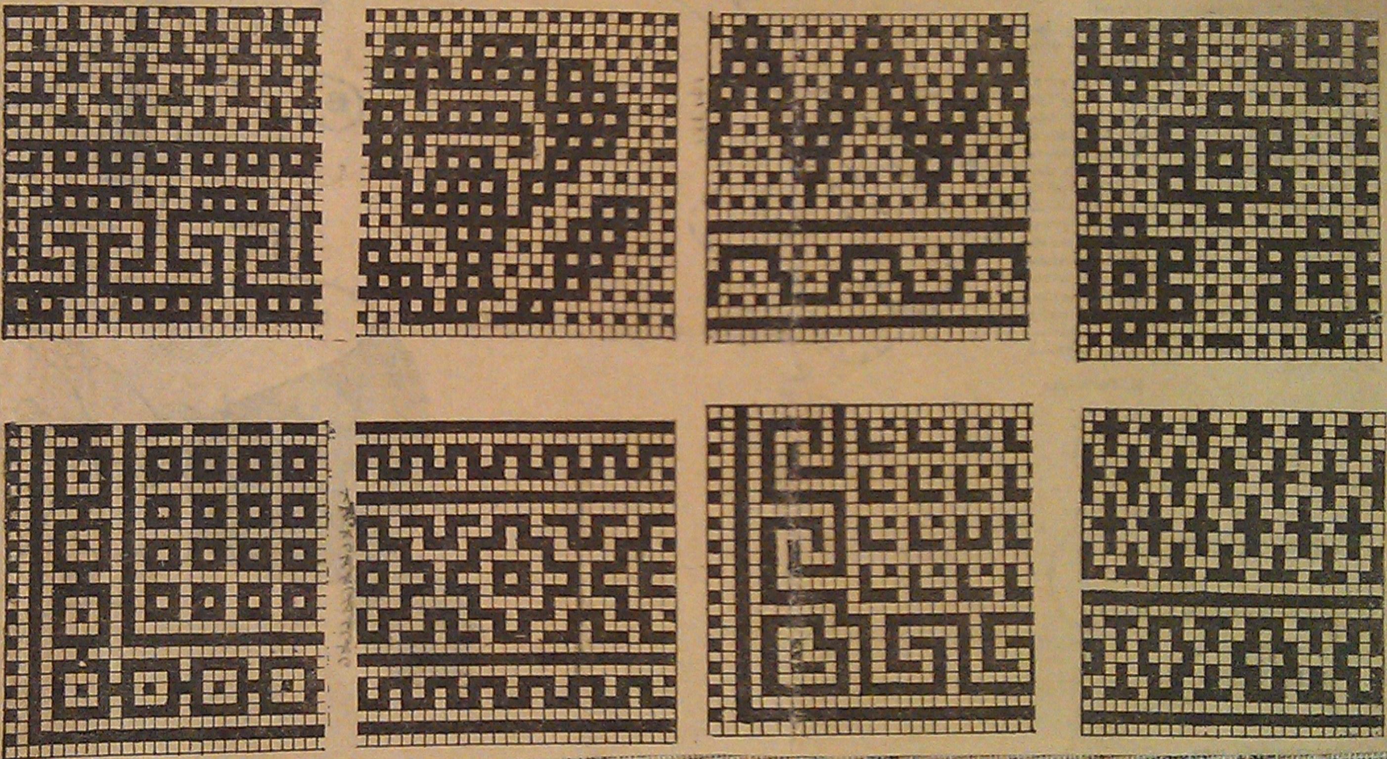 Греческие узоры для вязания 83