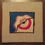 Натягивание вышивки на каркас