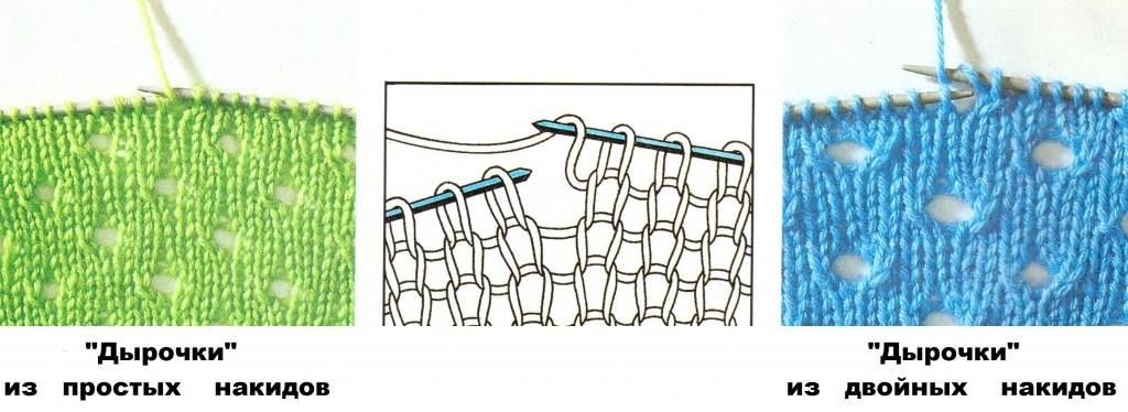 Рисунок вязания с накидами 132