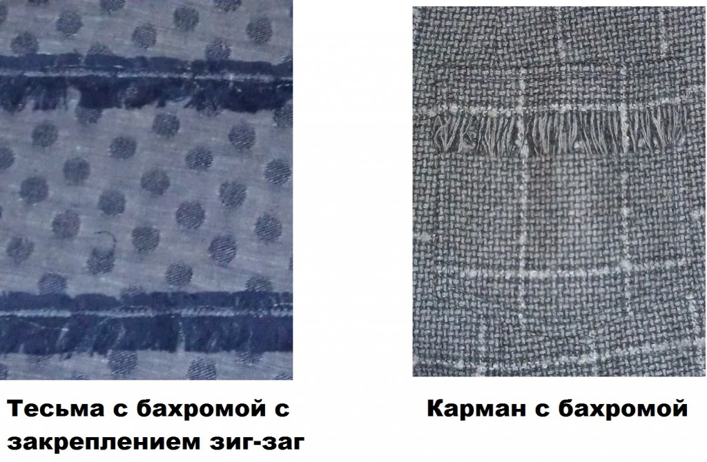 Бахрома из нитей ткани (примеры)