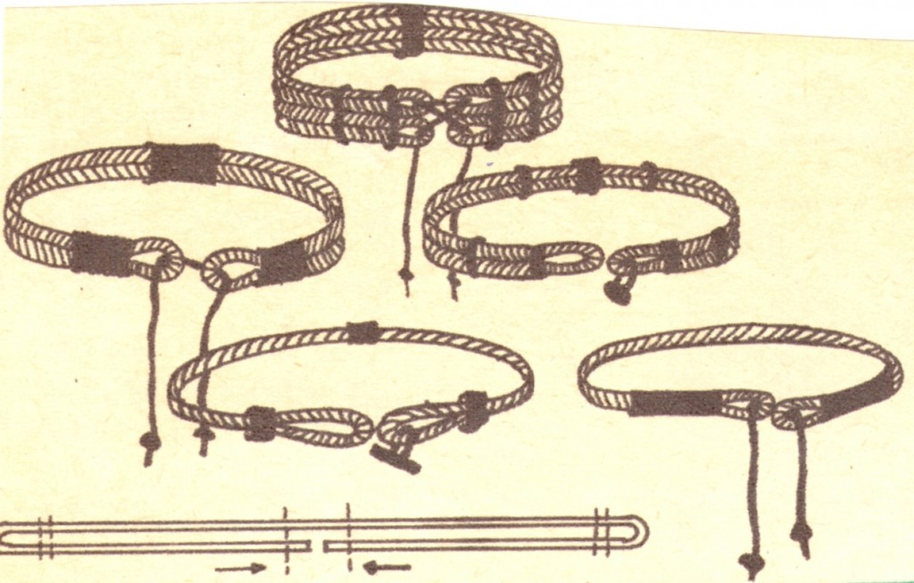 Пояс из веревки или шнура