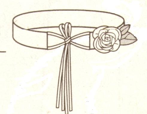 Пояс с декоративным цветком
