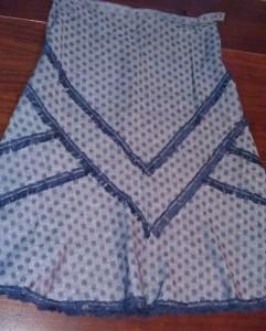 Юбка с бахромой из нитей ткани