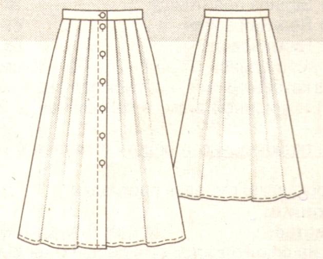 Длинная юбка с мягкими складкми эскиз