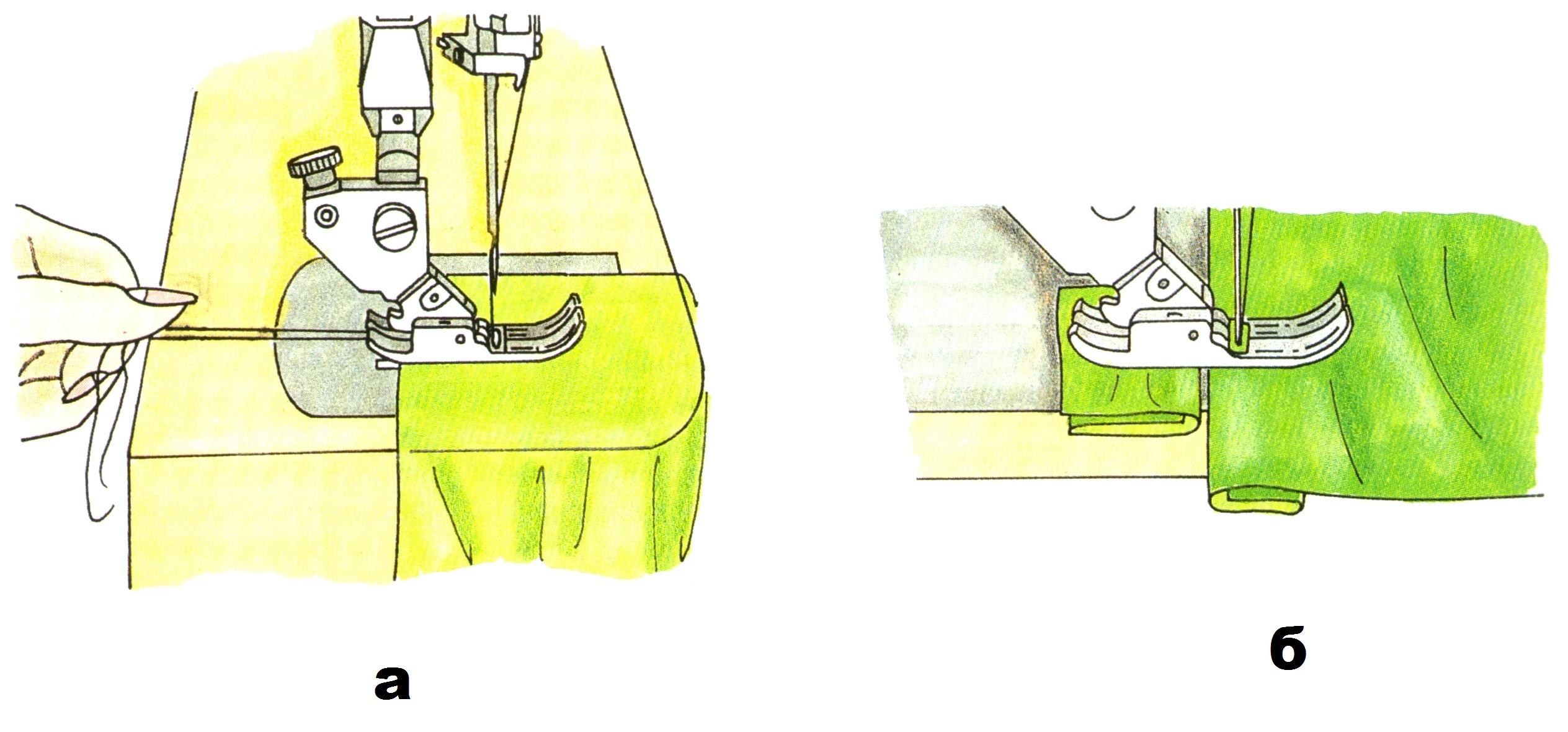 Начало и конец строчки на толстых тканях