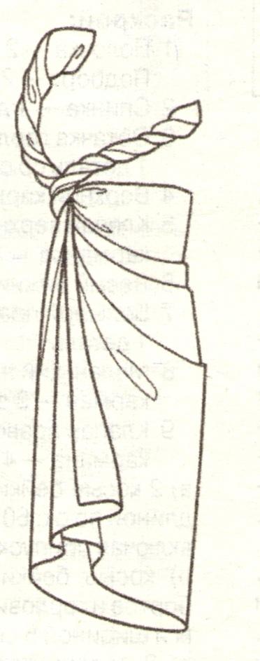 Парео платье с запахом эскиз 4