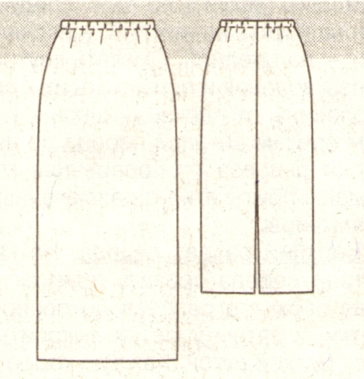 Длинная пряма юбка (эскиз)