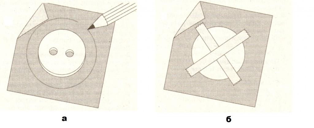 выкройка для обтягивания пуговицы