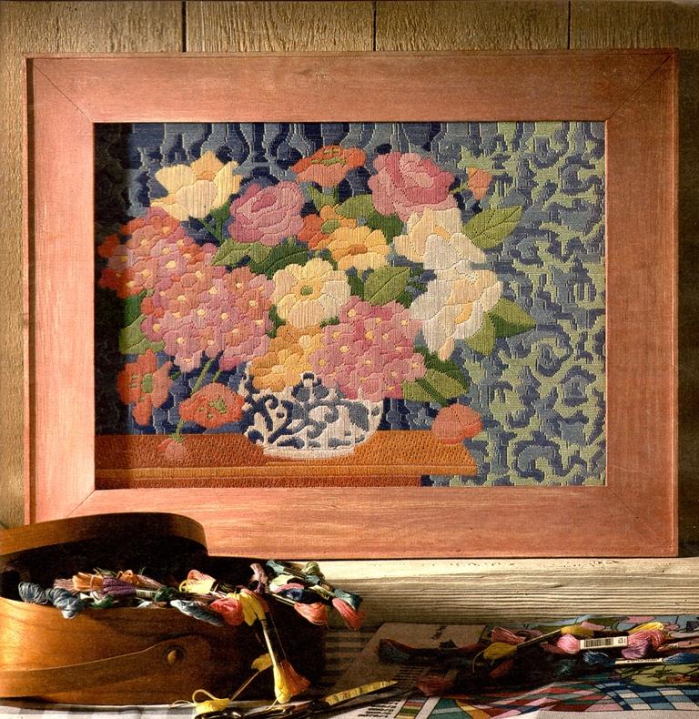 Вышитая картина Букет c розами