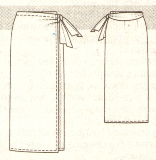 Как сшить юбку с запахом своими руками прямую