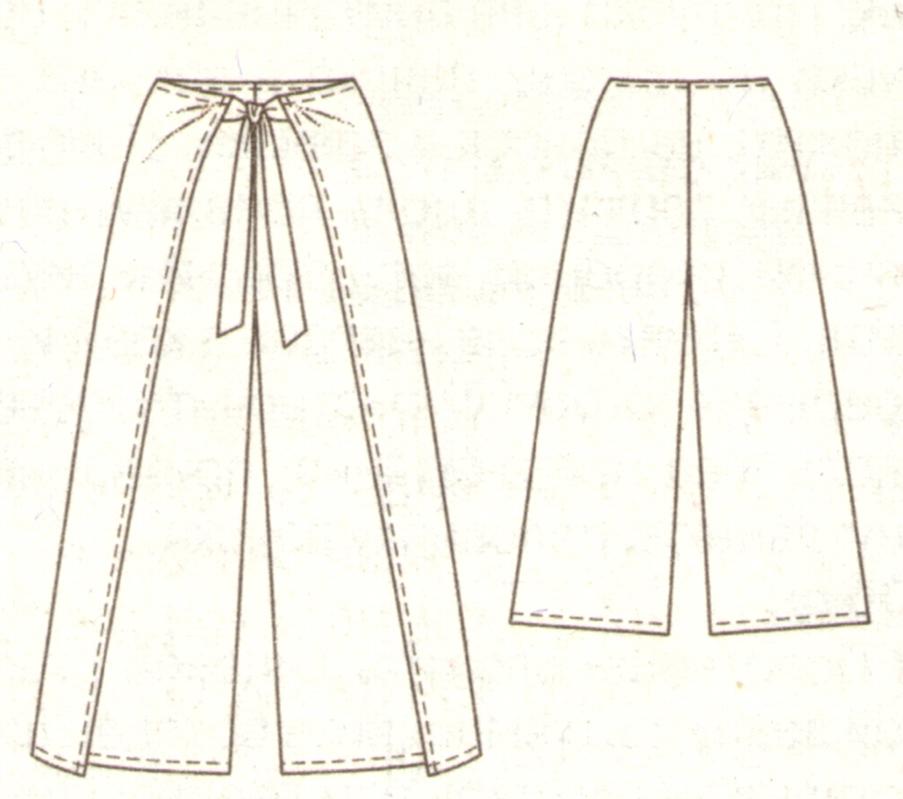 Как сшить из мужских брюк юбку брюки