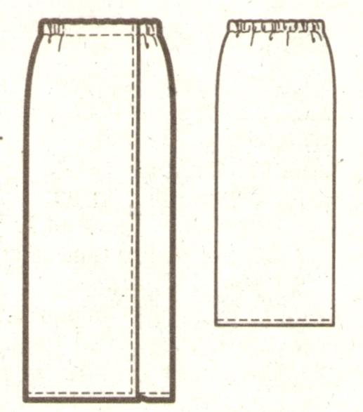 Летняя юбка для полных эскиз