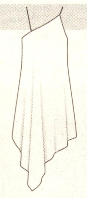 Платье из платков эскиз
