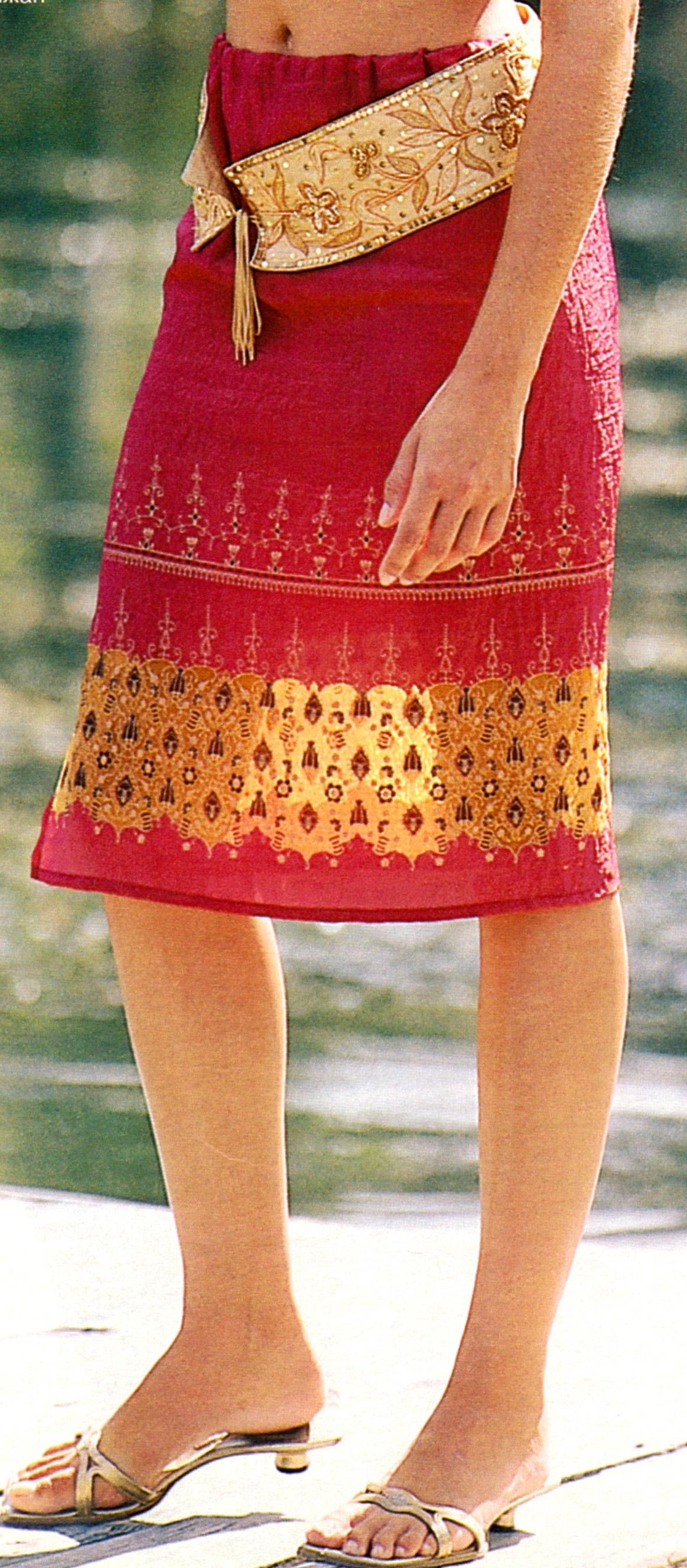 Прямая юбка с разрезом