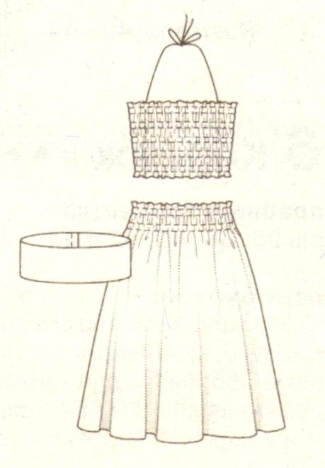 Топ, юбка  и пояс эскиз