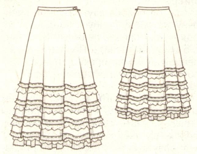 Юбка полусолнце в стиле кармен эскиз