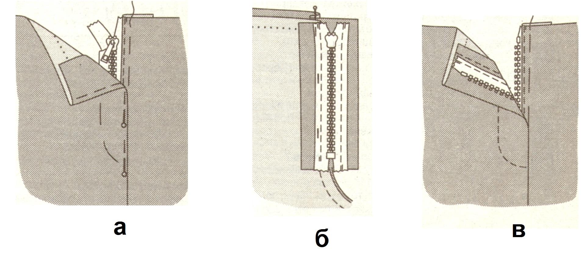 Как сшить внутренний замок 49