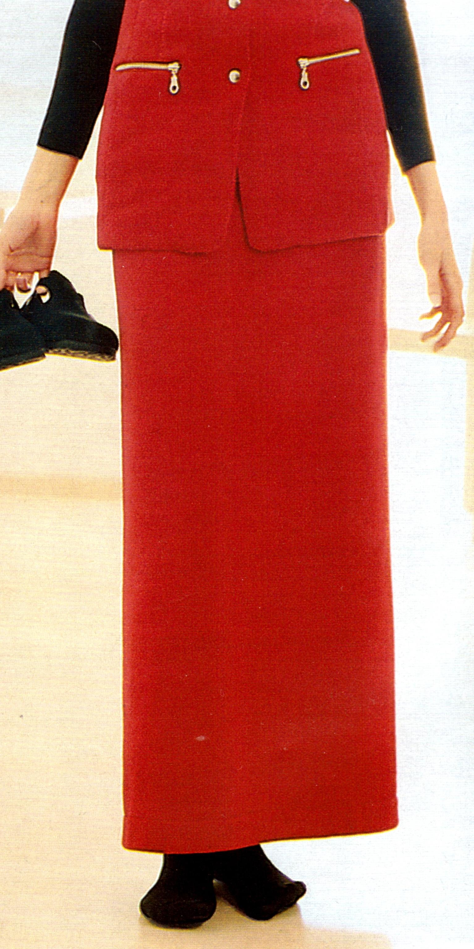Прямая юбка из флиса