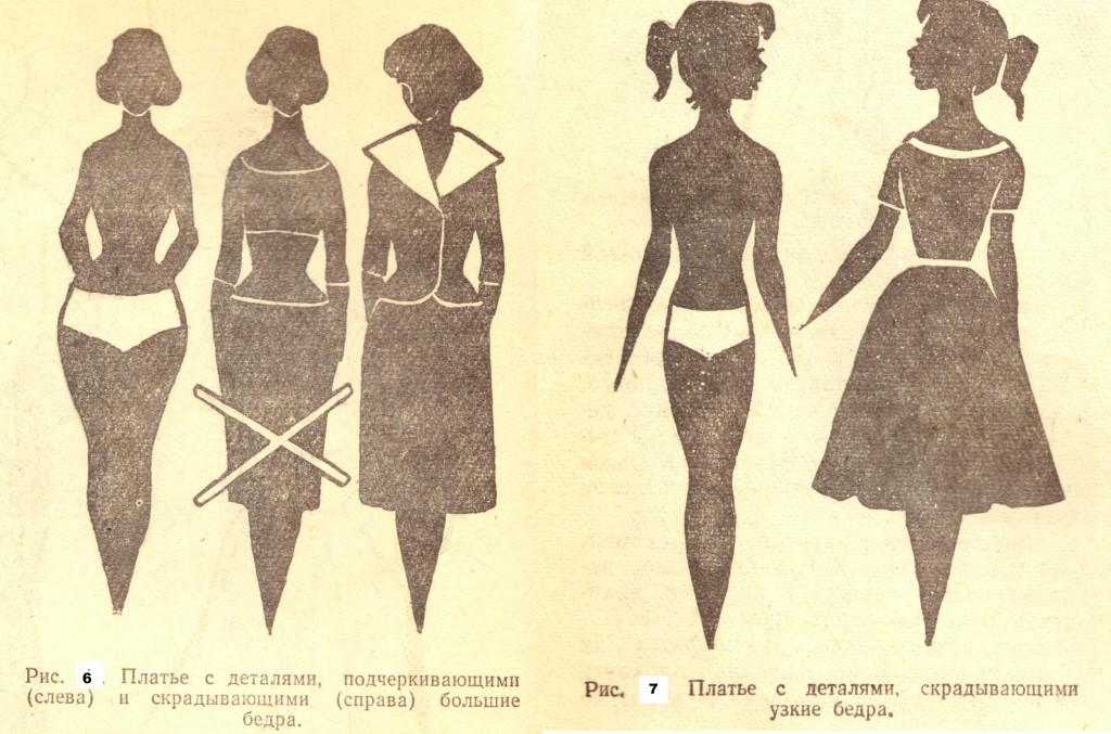 Фасон платья на широкие бедра и узкие плечи