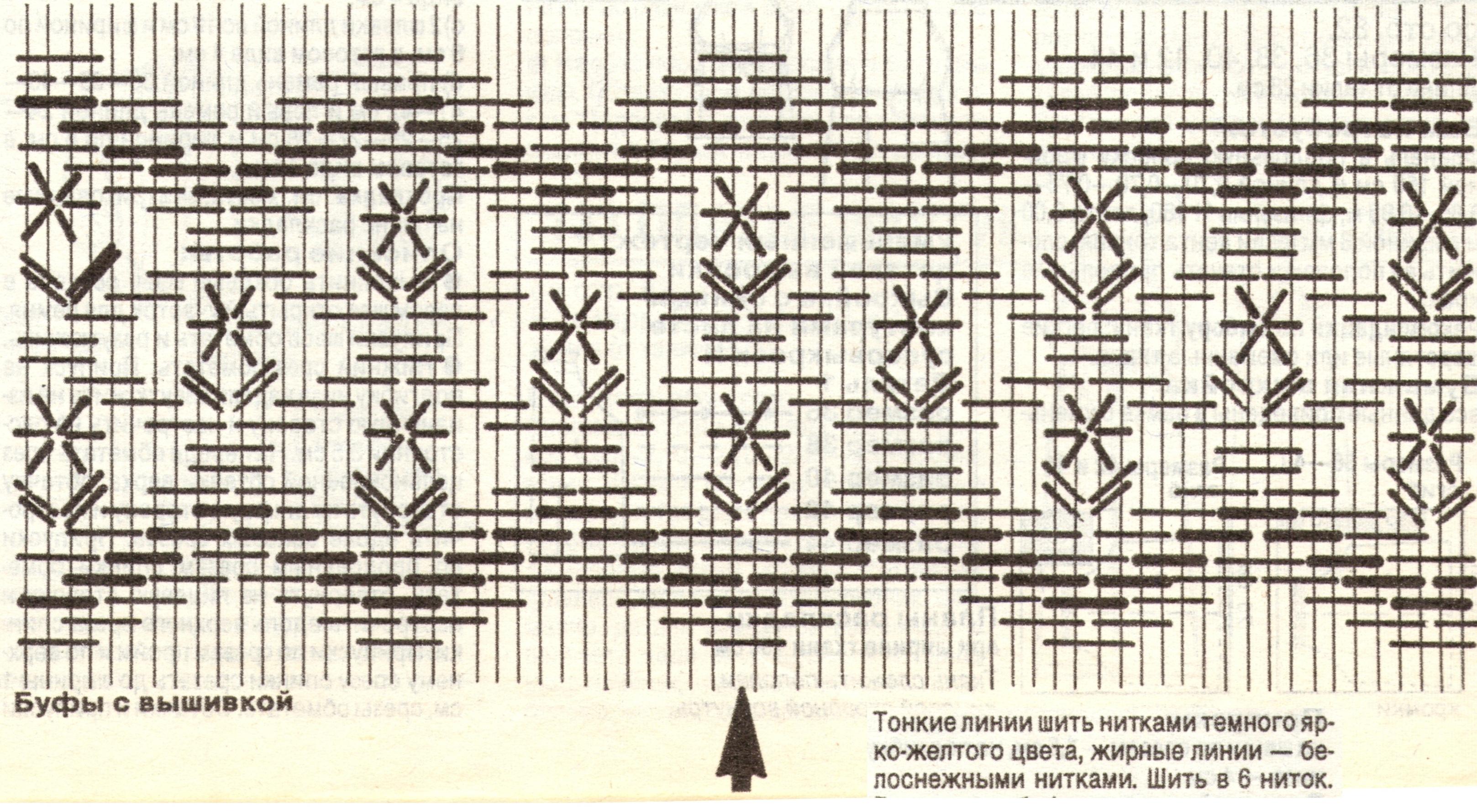 Схема вышивки по буфам