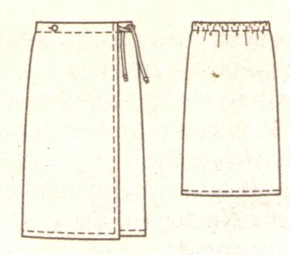 Сшить украинскую юбку с запахом