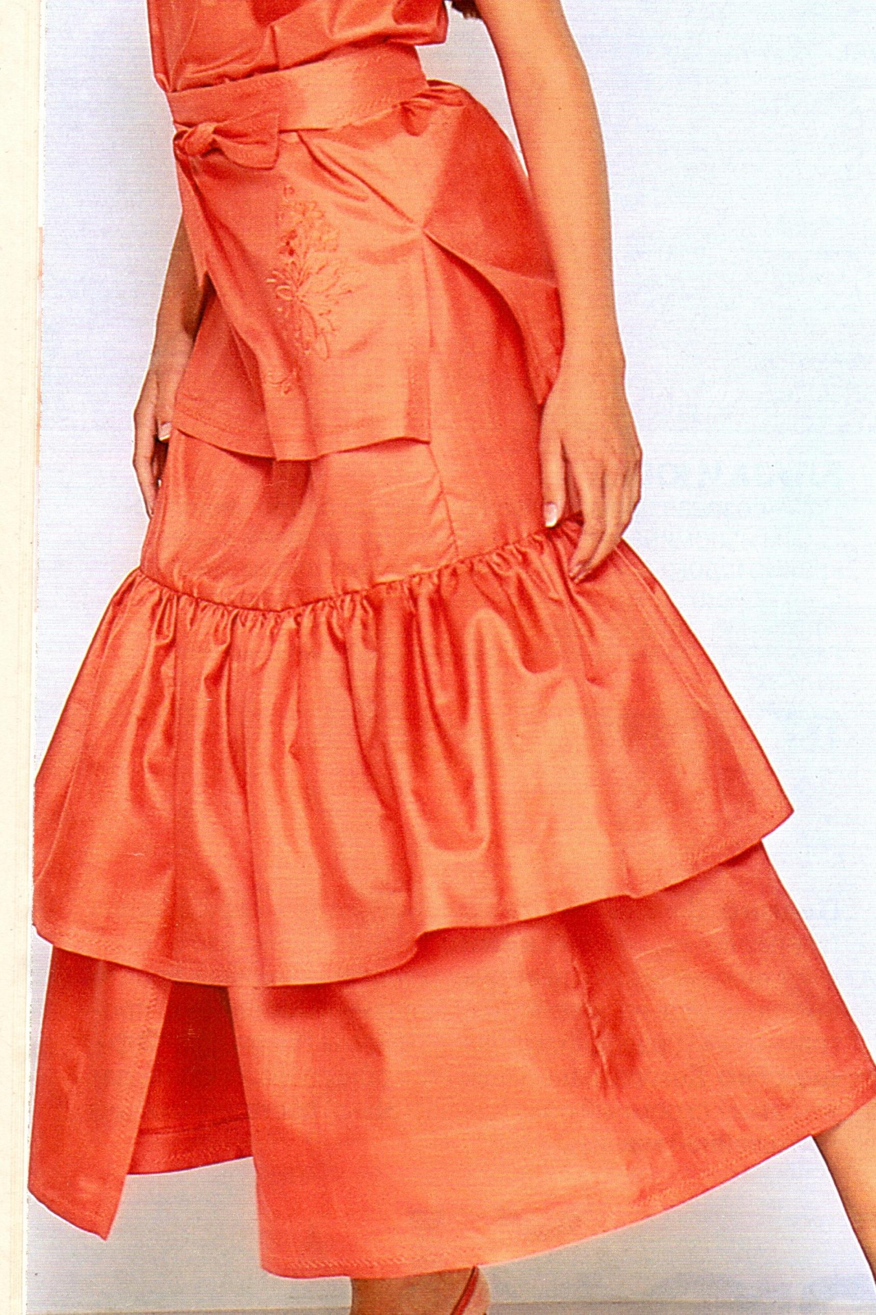 Сшить летнюю юбку с воланами фото 800