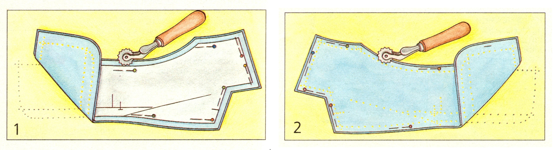Использование копировального колесика