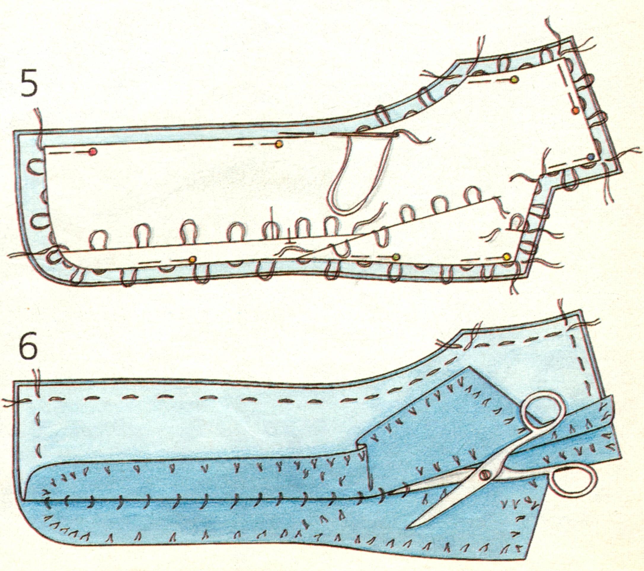 Копировальные стежки (силки)