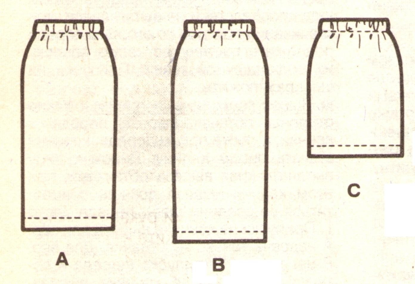 Как сшить длинную прямую  в пол