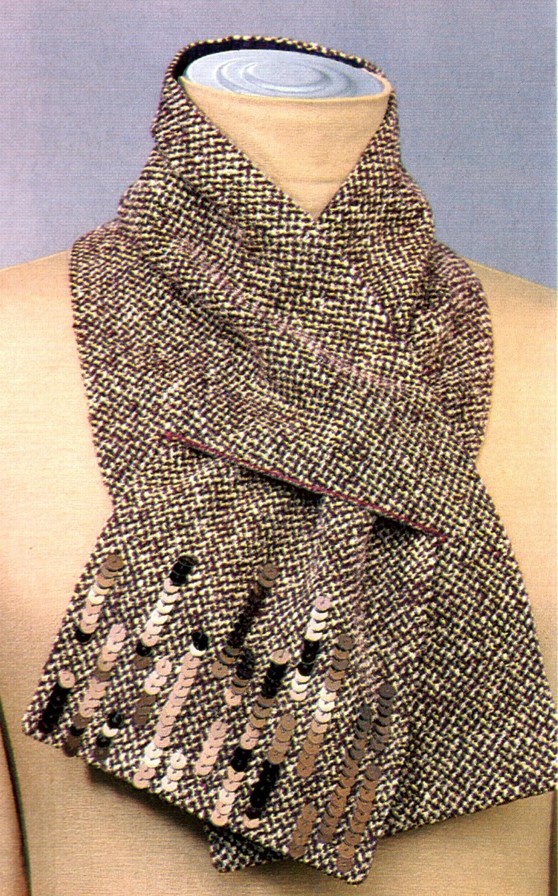 шарф с пайетками