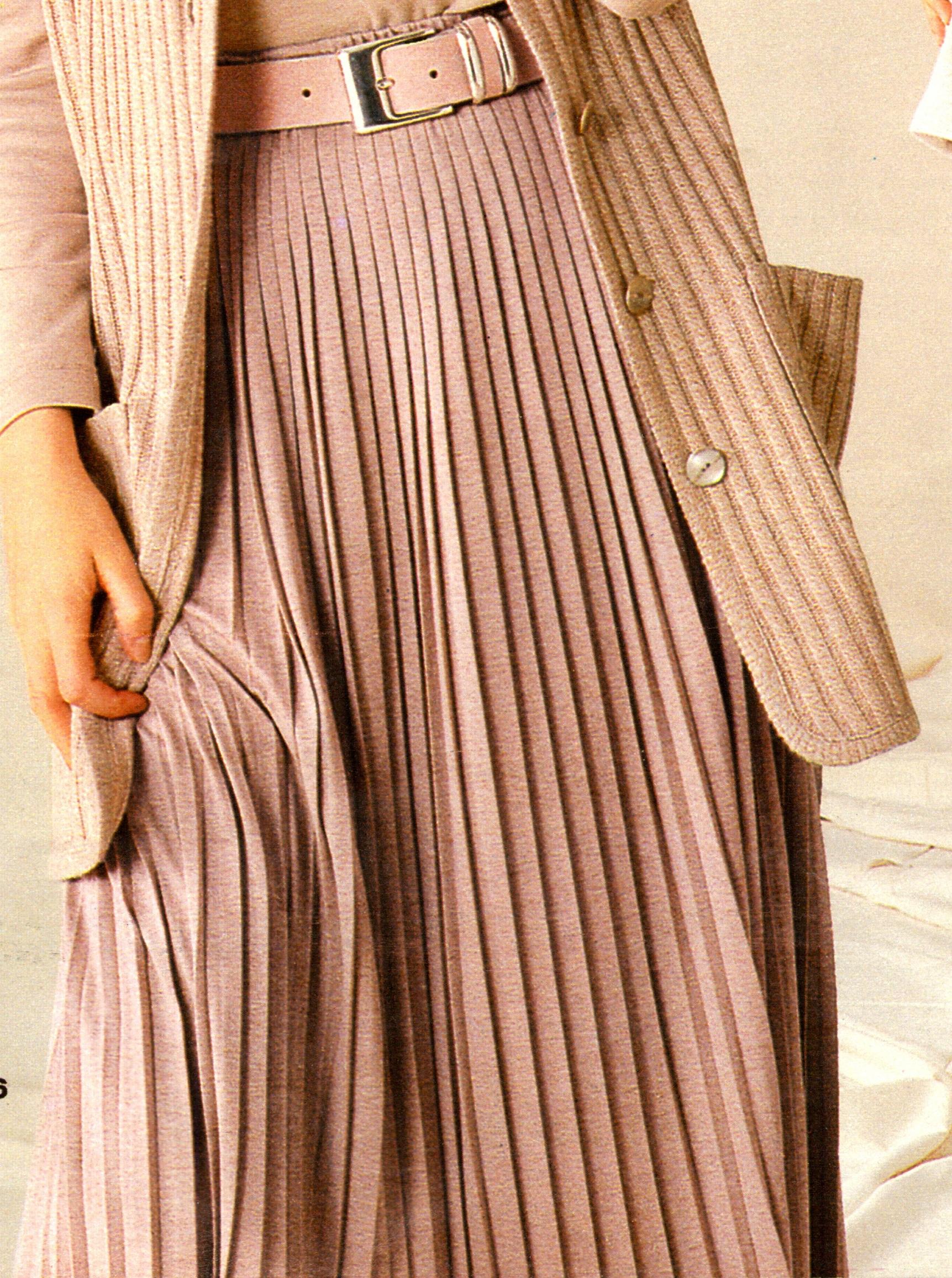 Плиссированная юбка из шерсти