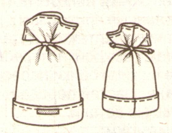 Детска шапка из флиса эскиз