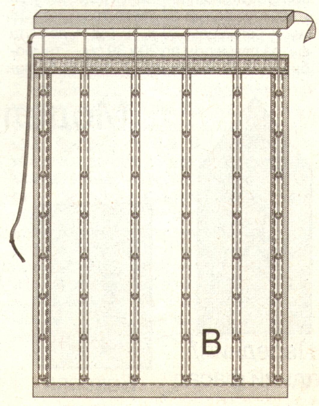 Подъемная штора эскиз