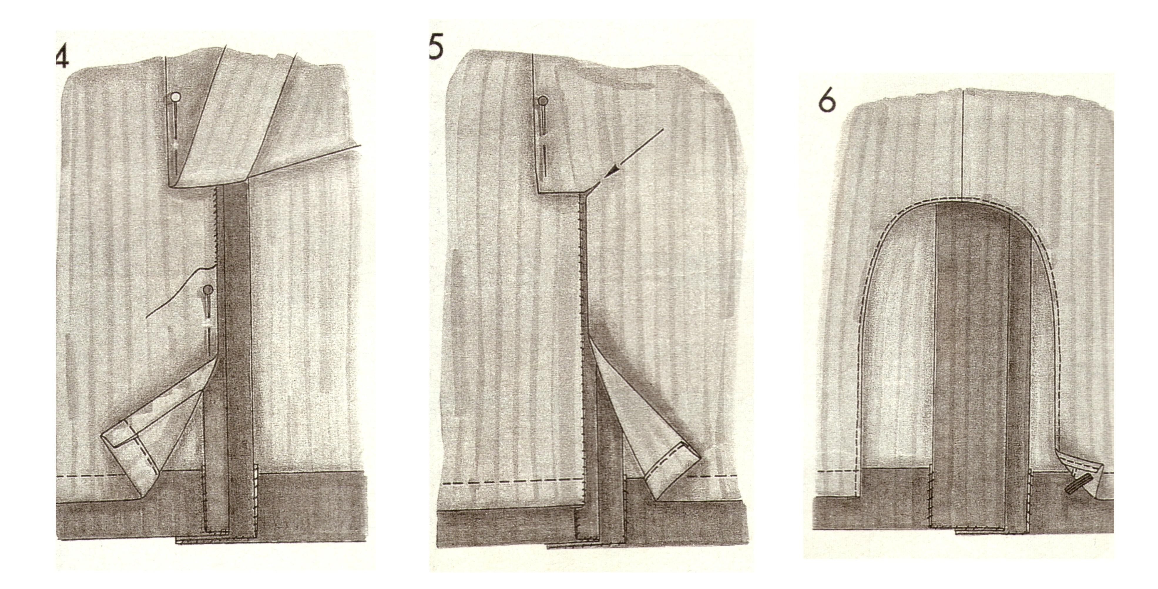 Разрезы в юбках технология