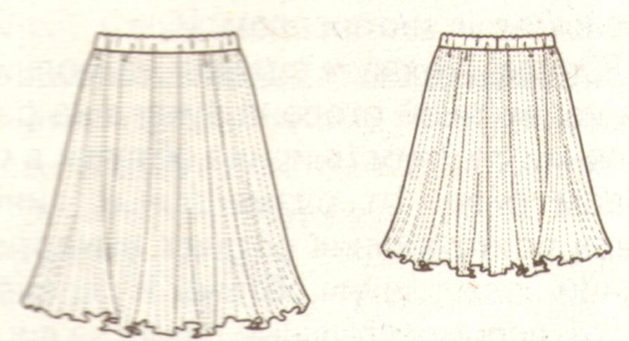 Гофре делается по выкроеной юбке, а не покупается готовая ткань. Преимущество гофрировки ткани от покупного гофре