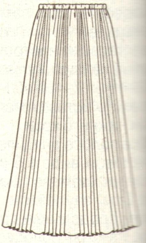 Юбка с плиссированными вставками