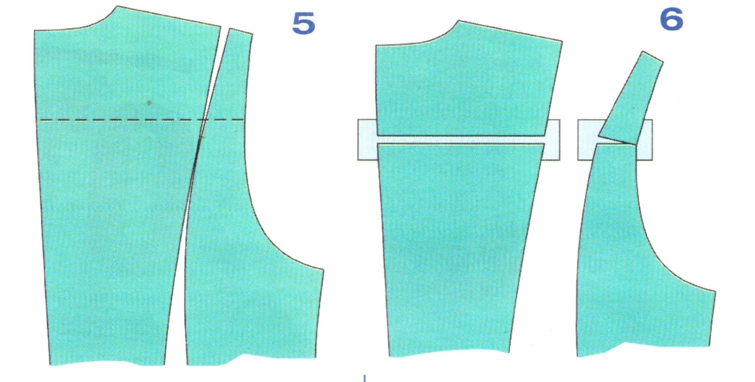 выкройки спинки с рельефом (5-6)
