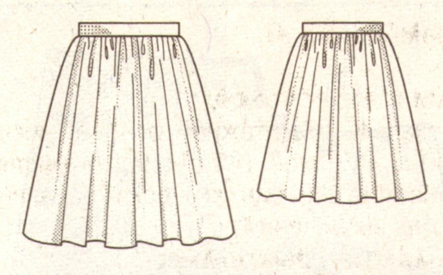 Короткая юбка из тафты эскиз
