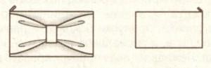Нарядная сумка конверт (эскиз)