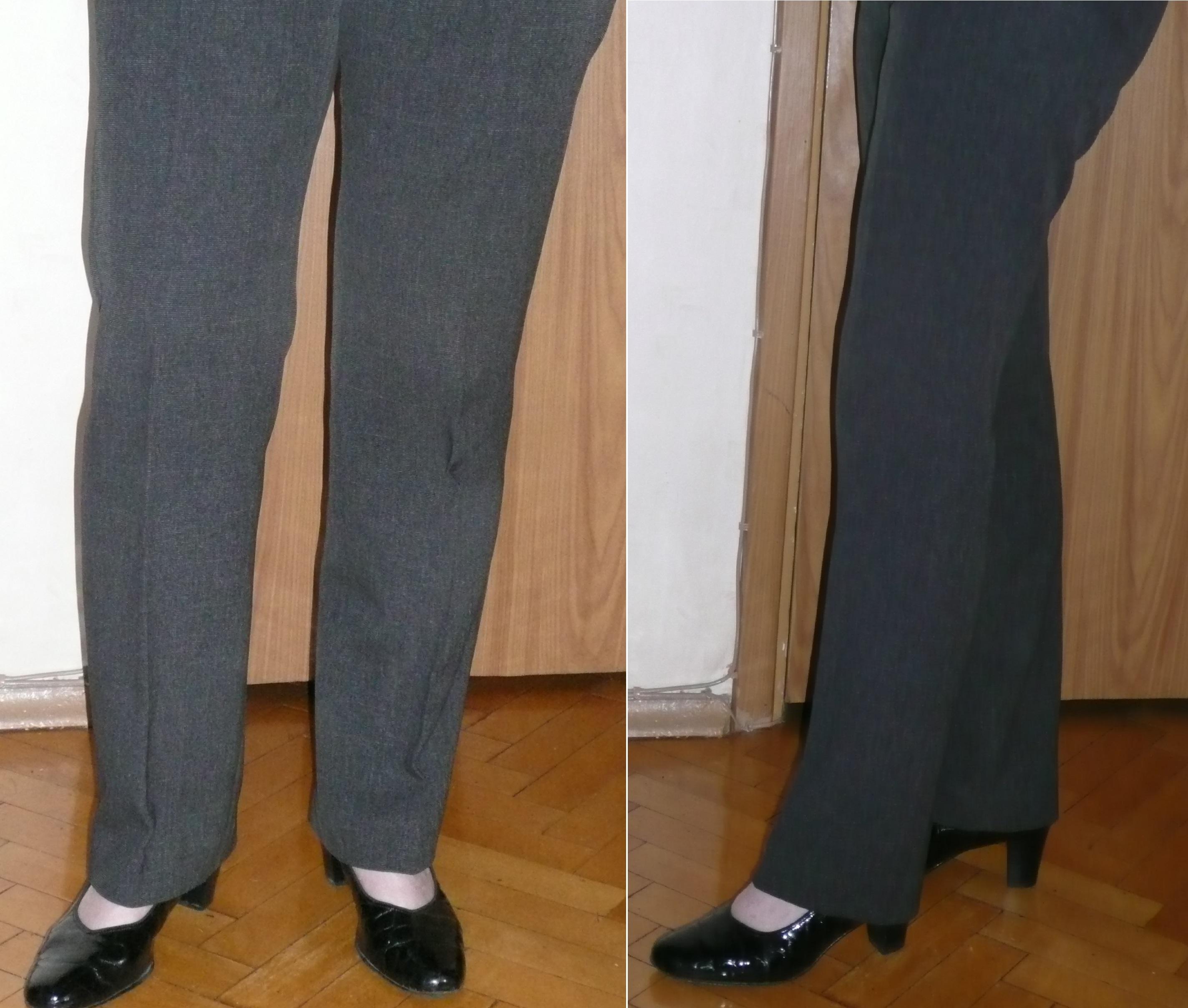 Как из брюк клеш сделать прямые