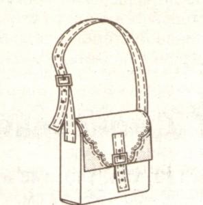 Джинсовая сумка эскиз