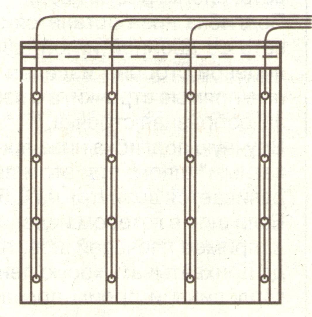 Схема подъемной шторки