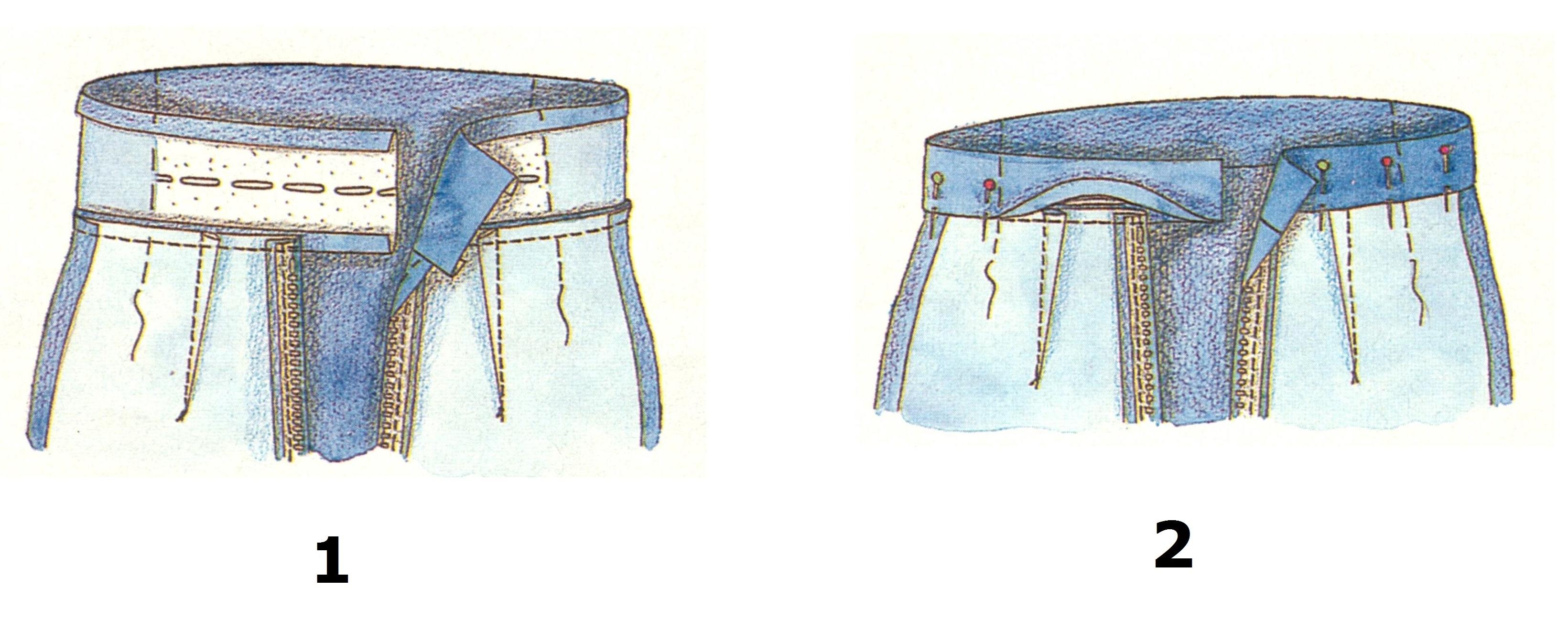 Пояс с боковыми кулисками (1-2)