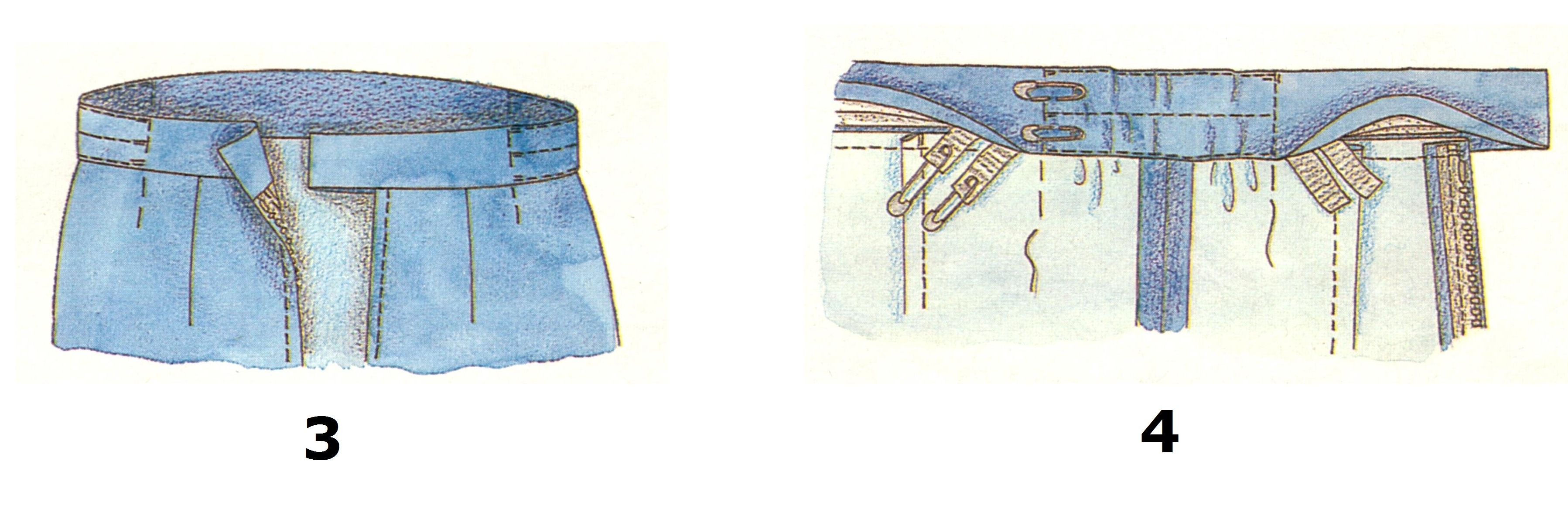 Пояс с боковыми кулисками (3-4)