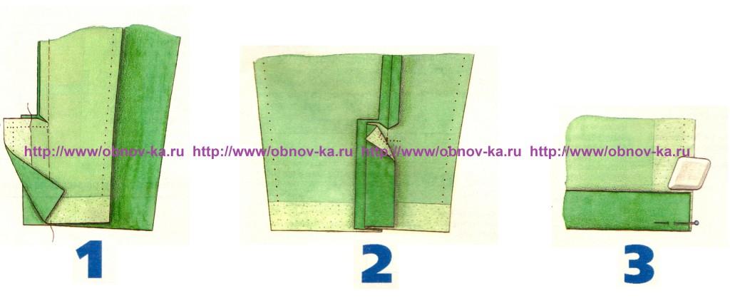 Обработка шлицы рукава 1-3