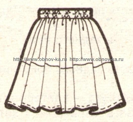 Юбка для девочки в стиле пэчворк эскиз