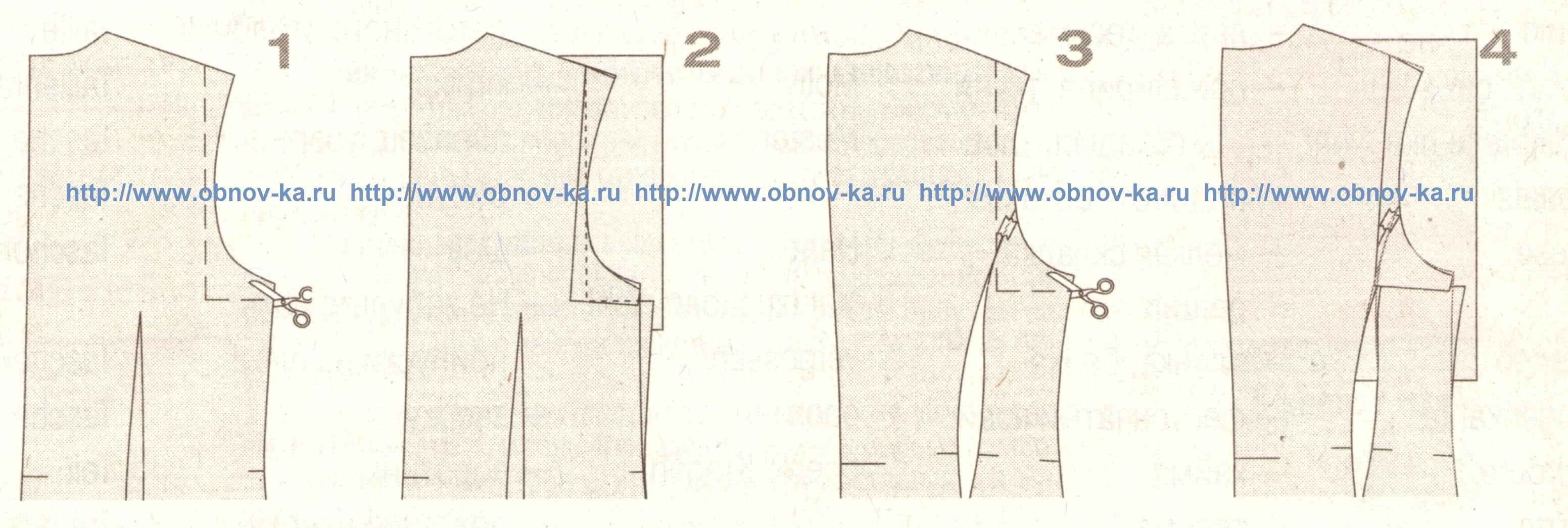 выкройка блузки для сутулой фигуры