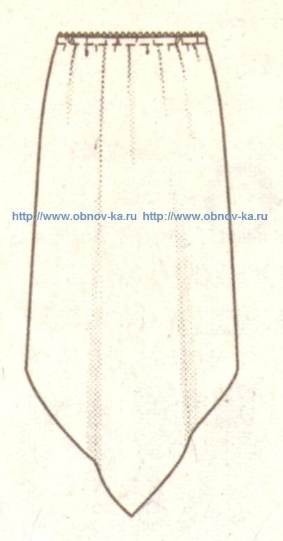 Юбка из платков эскиз